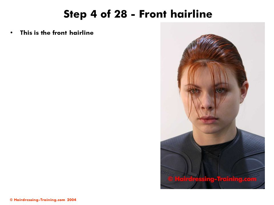 Step 4 of 28 - Front hairline