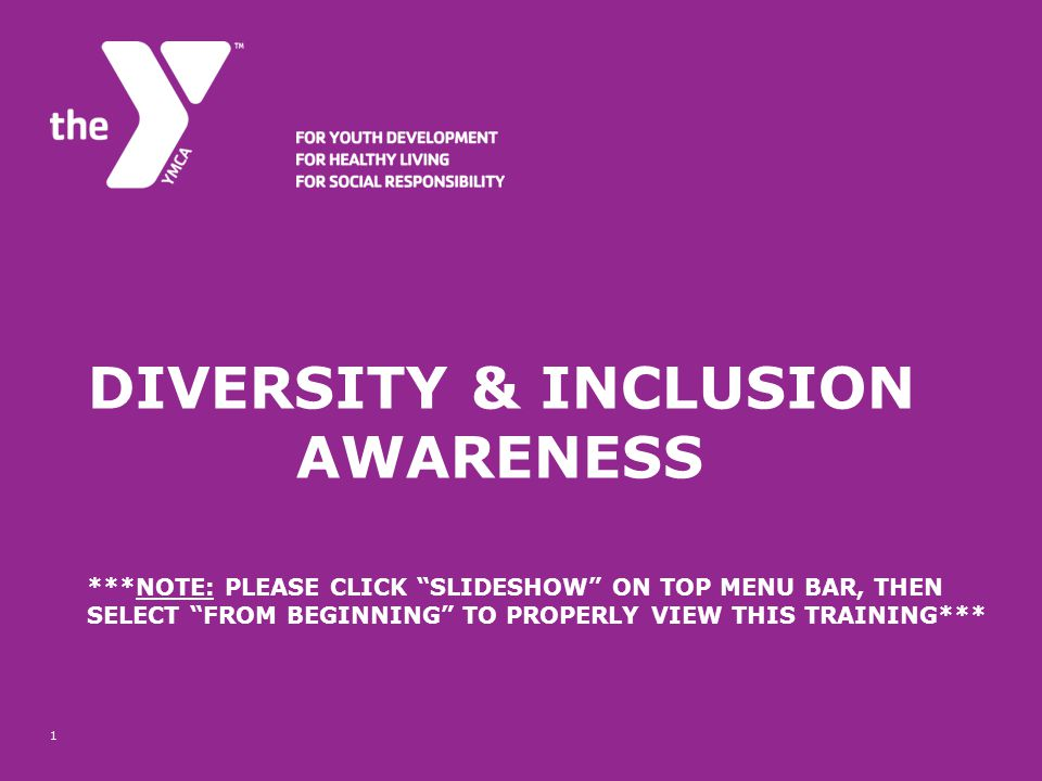 Diversity & Inclusion. Awareness