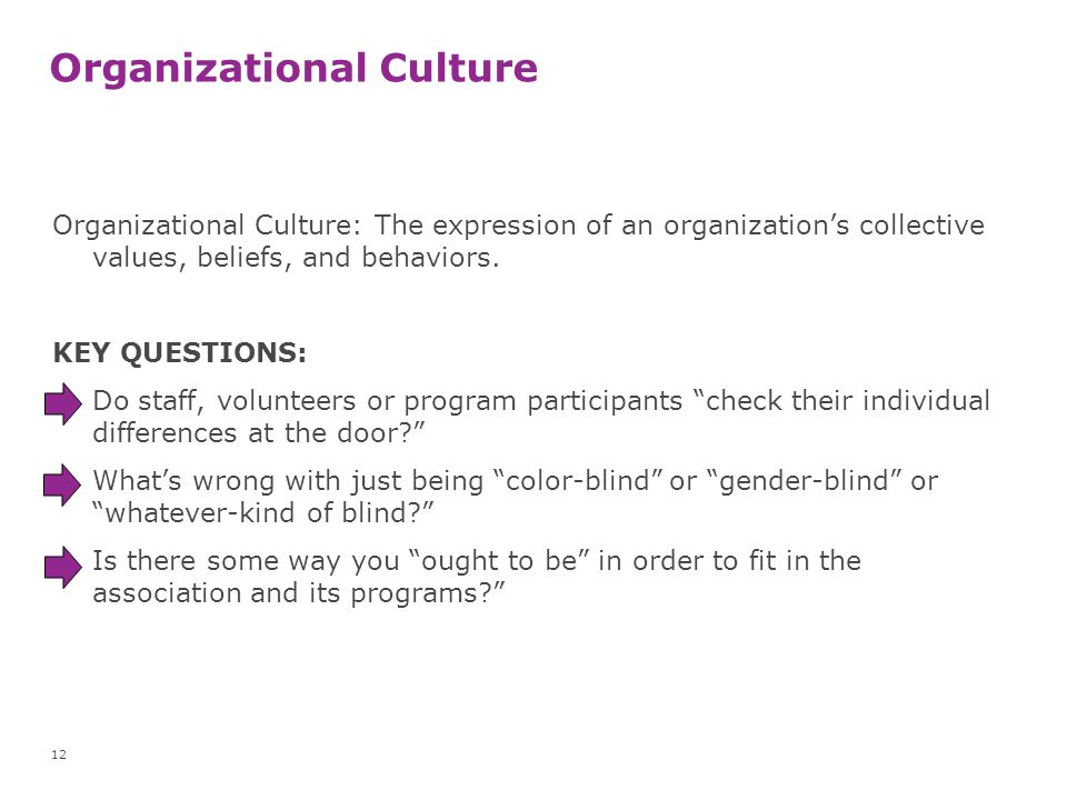 organizational culture and its impact on diversity Suggestions for managing cultural diversity  the impact of collectivism and in  the influence of national culture and organizational culture alignment.