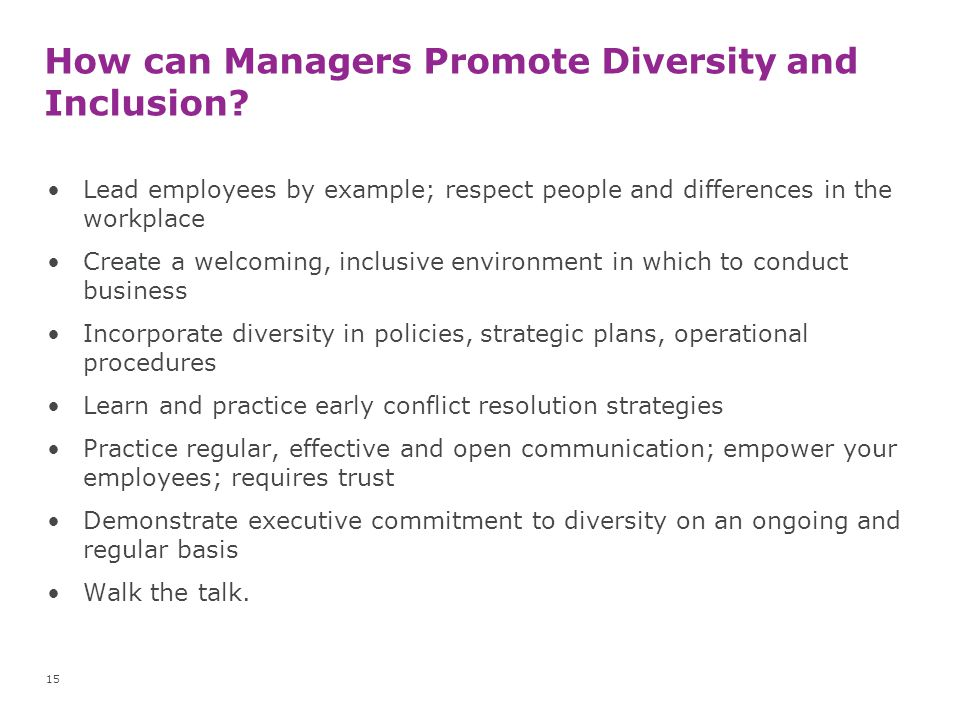 How can Managers Promote Diversity and Inclusion