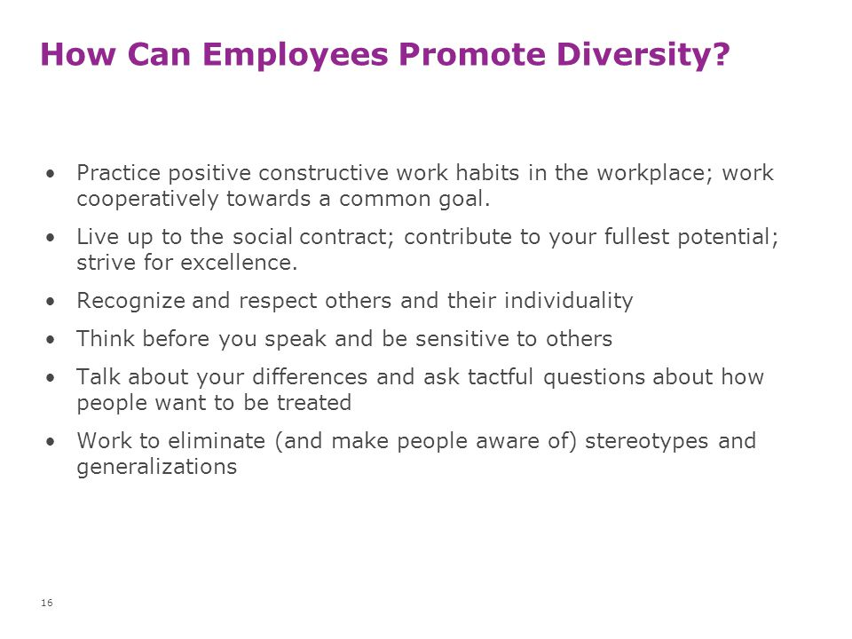 How Can Employees Promote Diversity