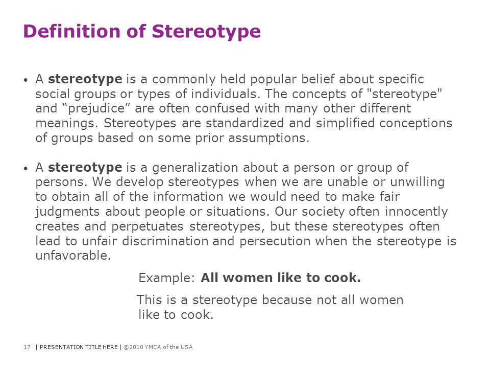 Definition of Stereotype