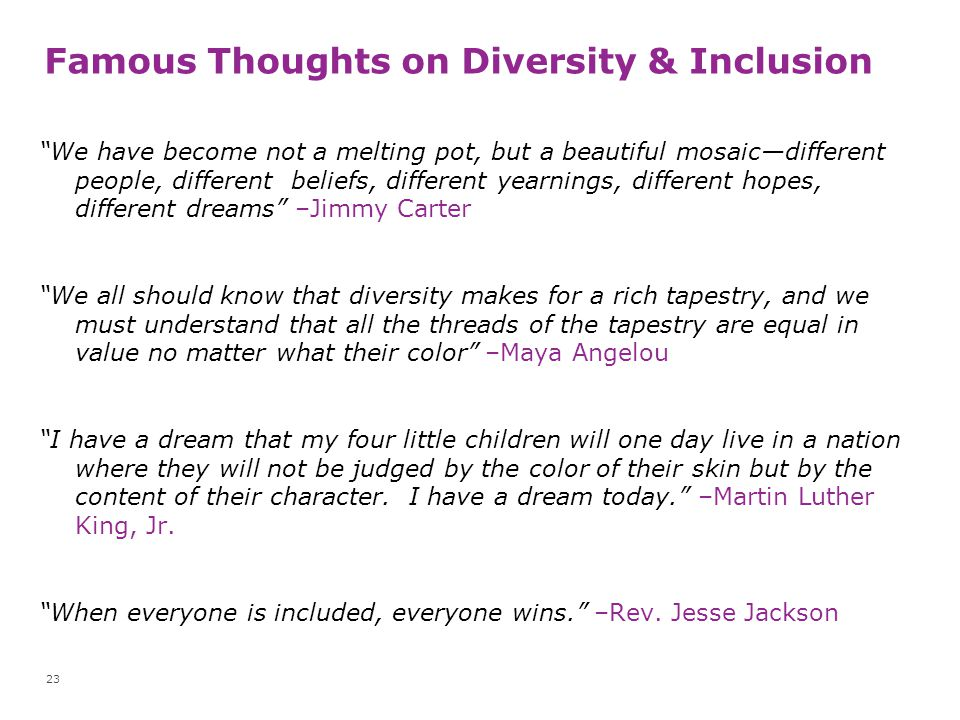 Famous Thoughts on Diversity & Inclusion