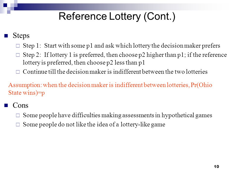Reference Lottery (Cont.)