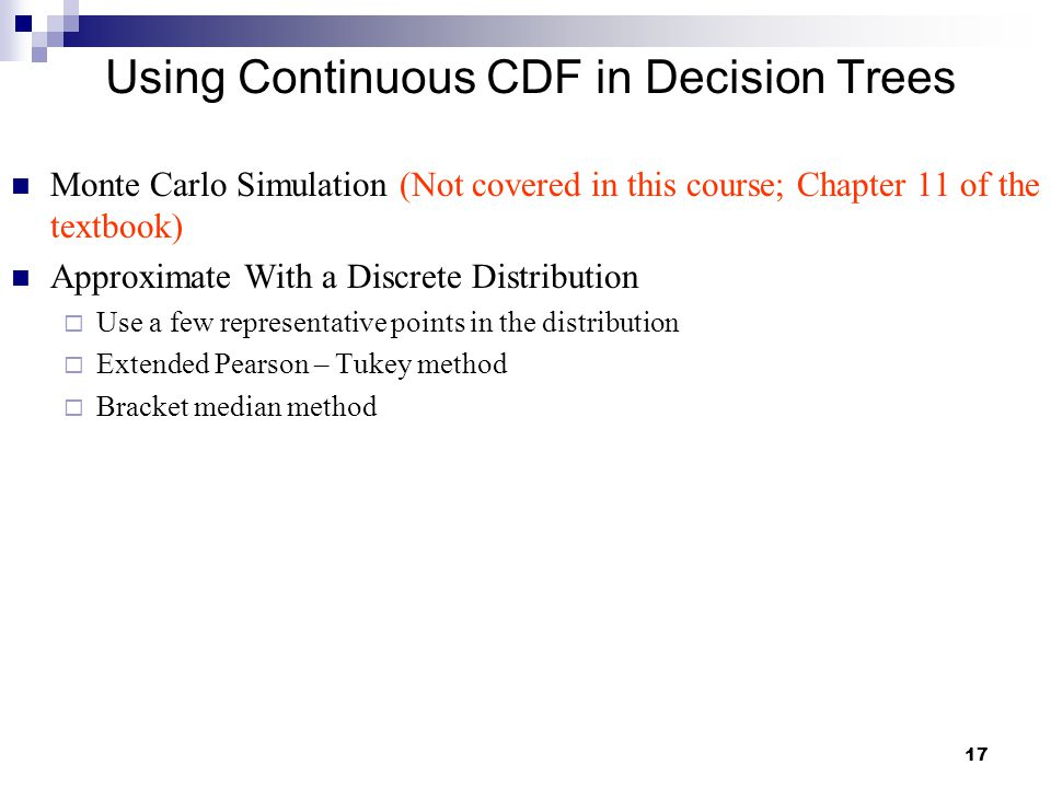 Using Continuous CDF in Decision Trees