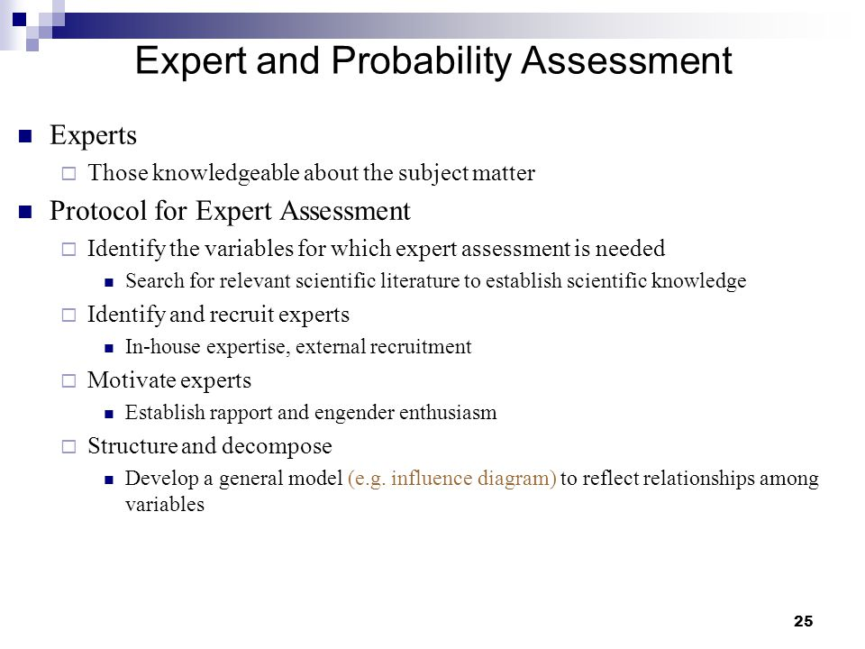 Expert and Probability Assessment