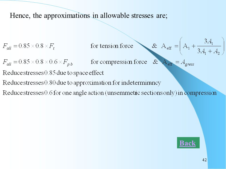 Hence, the approximations in allowable stresses are;