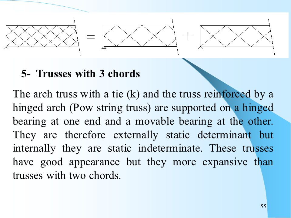 5- Trusses with 3 chords