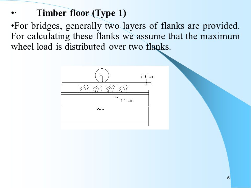 · Timber floor (Type 1)