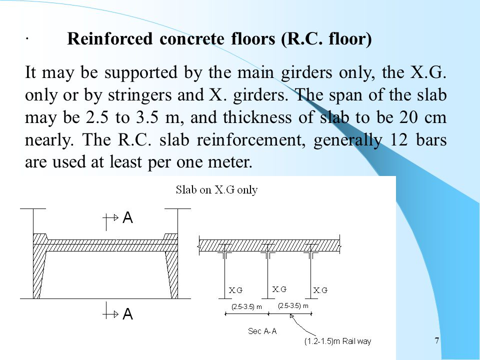 · Reinforced concrete floors (R.C. floor)