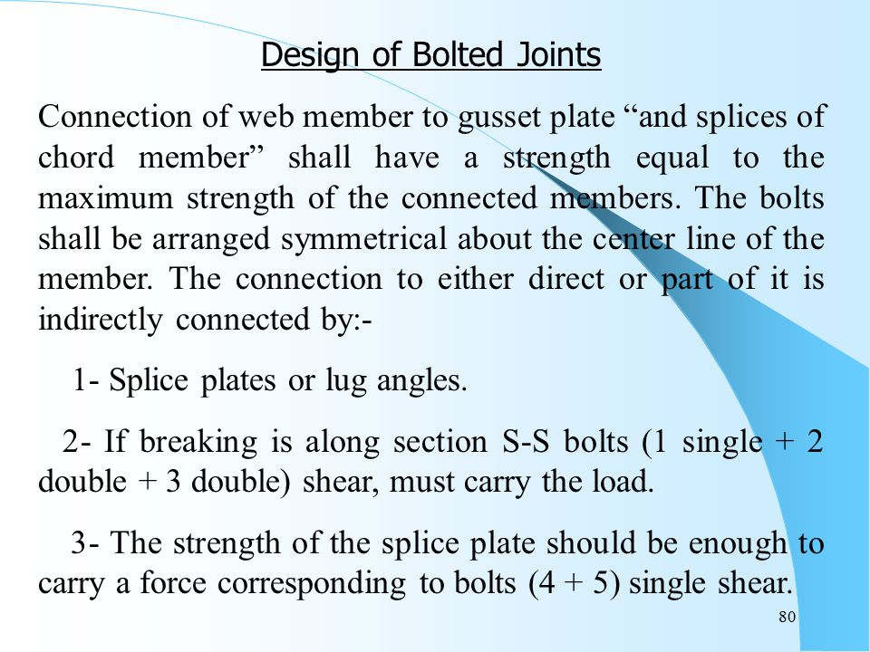 Design of Bolted Joints