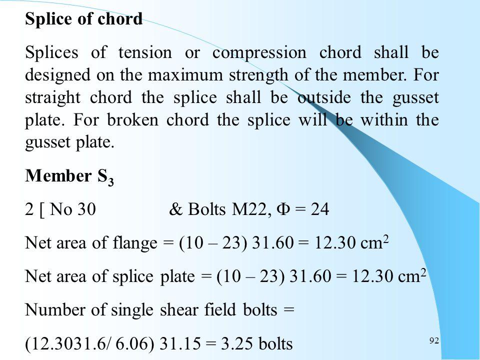 Splice of chord