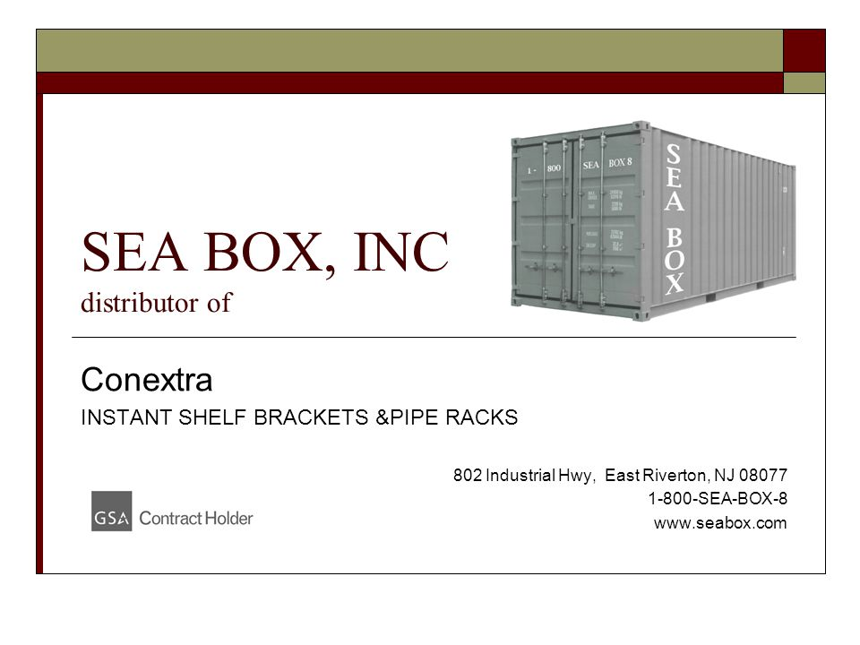 SEA BOX, INC distributor of