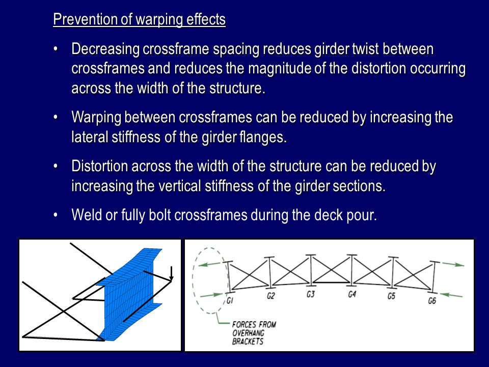 Prevention of warping effects