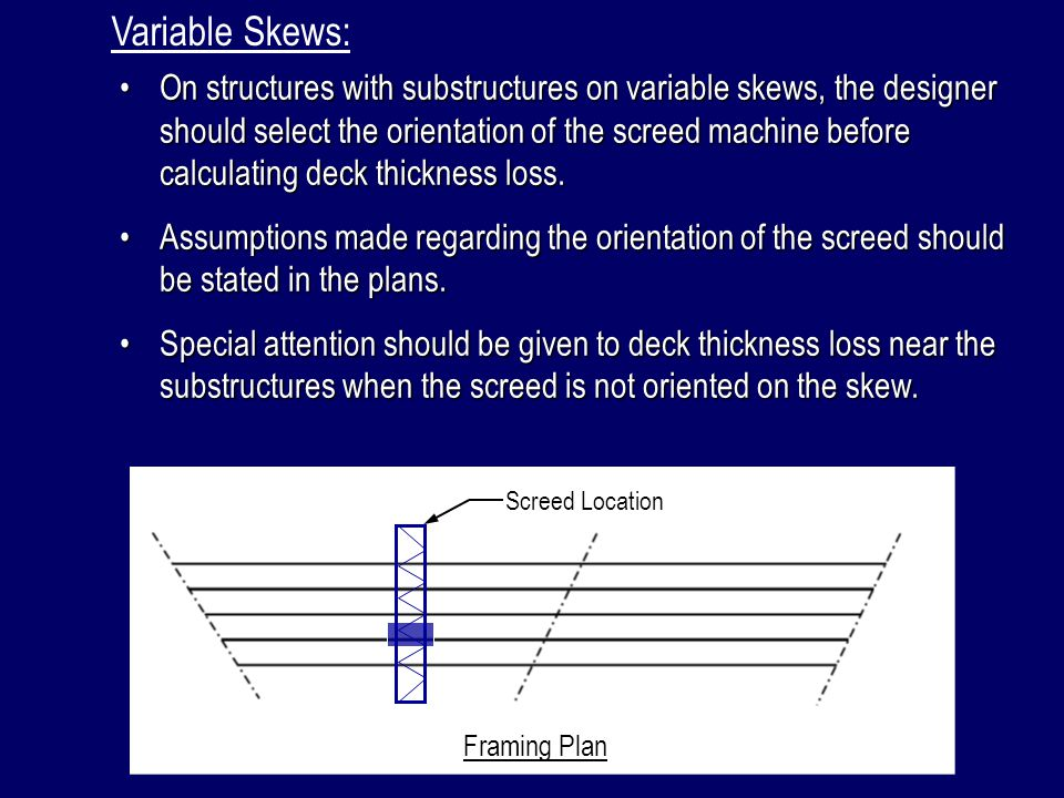 Variable Skews: