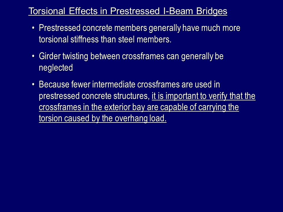 Torsional Effects in Prestressed I-Beam Bridges