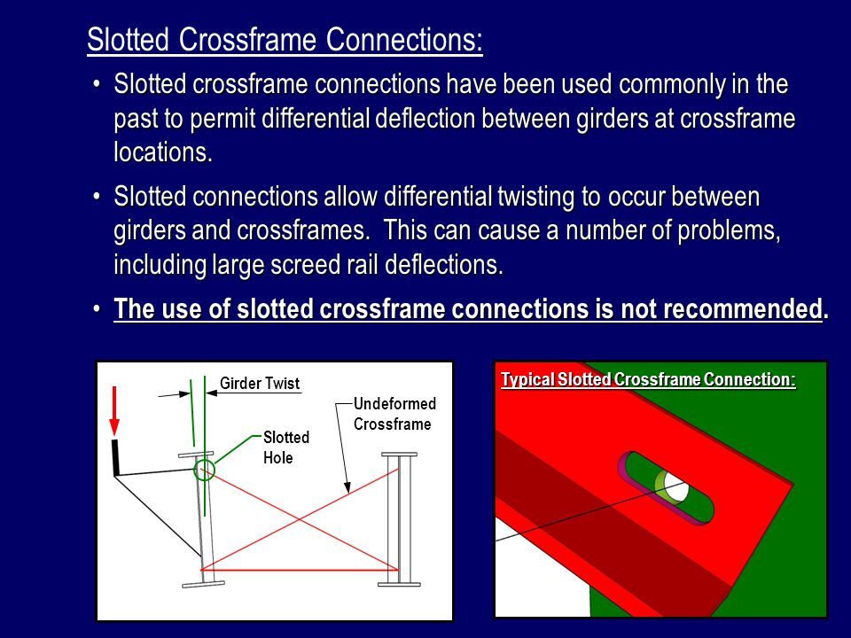 Slotted Crossframe Connections: