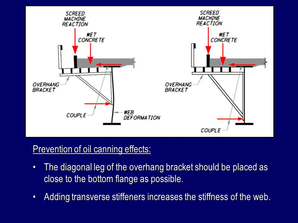 Prevention of oil canning effects: