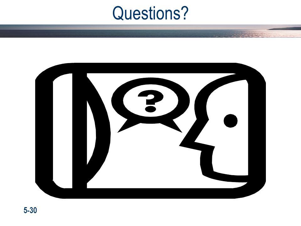 Questions 5-30