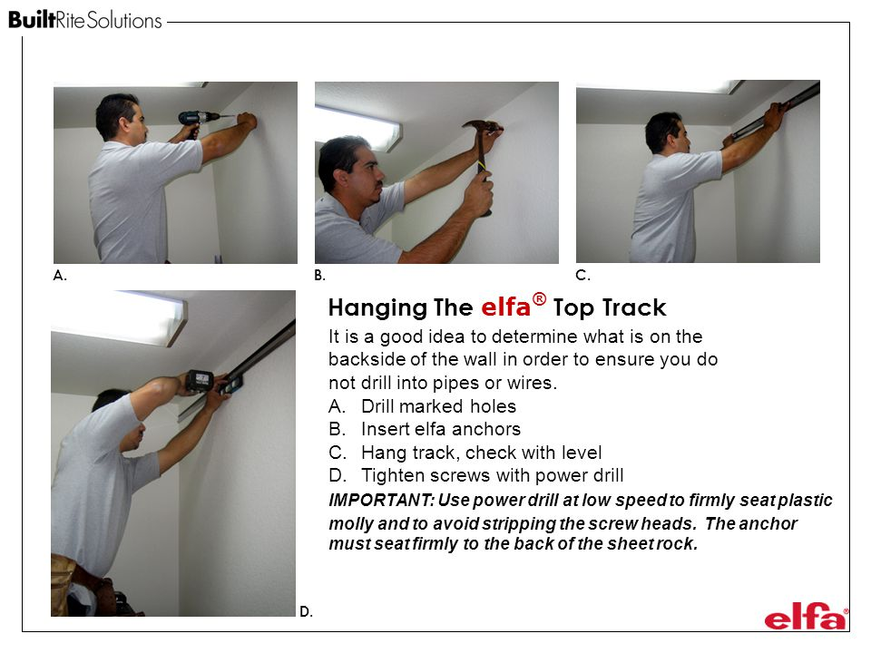 Hanging The elfa® Top Track