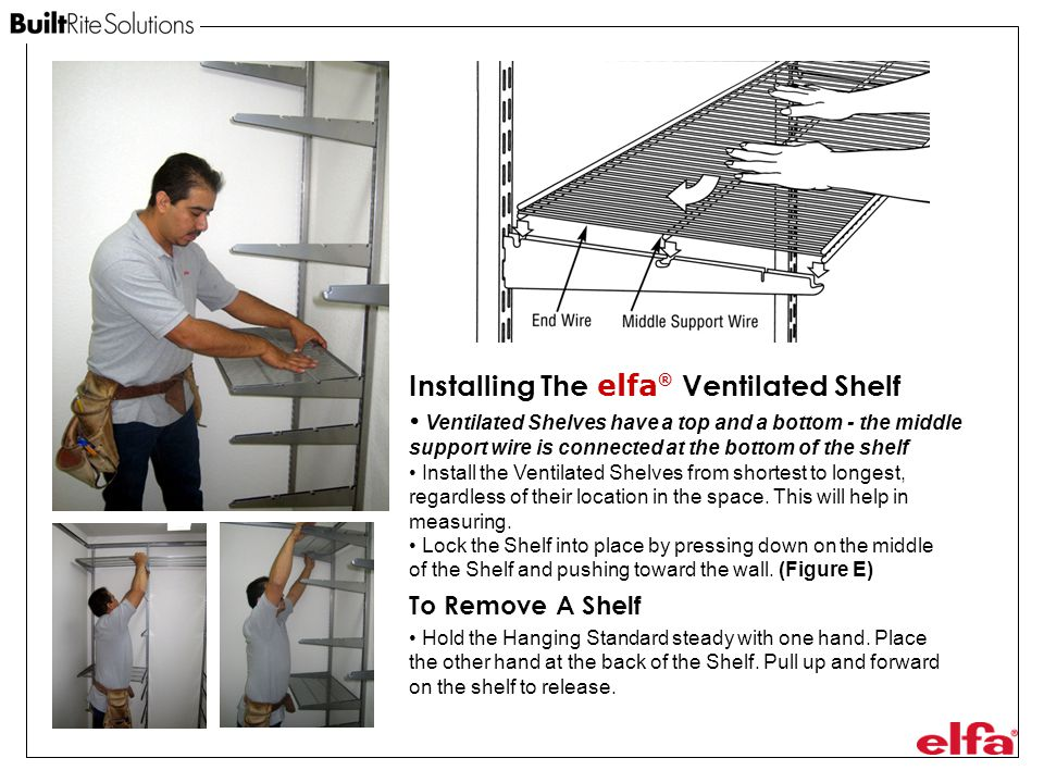 Installing The elfa® Ventilated Shelf