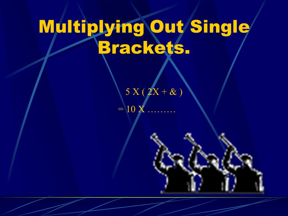 Multiplying Out Single Brackets.