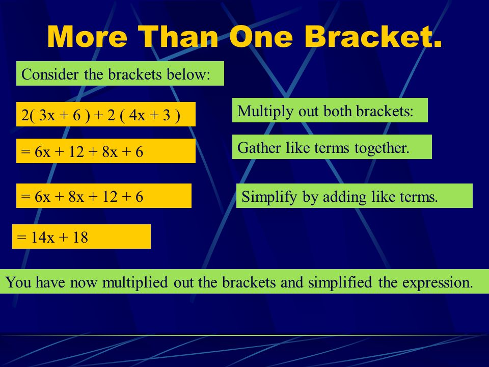 More Than One Bracket. Consider the brackets below: