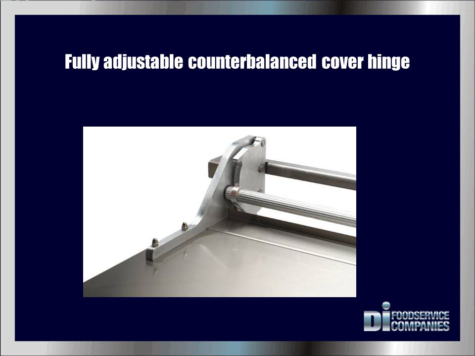 Fully adjustable counterbalanced cover hinge