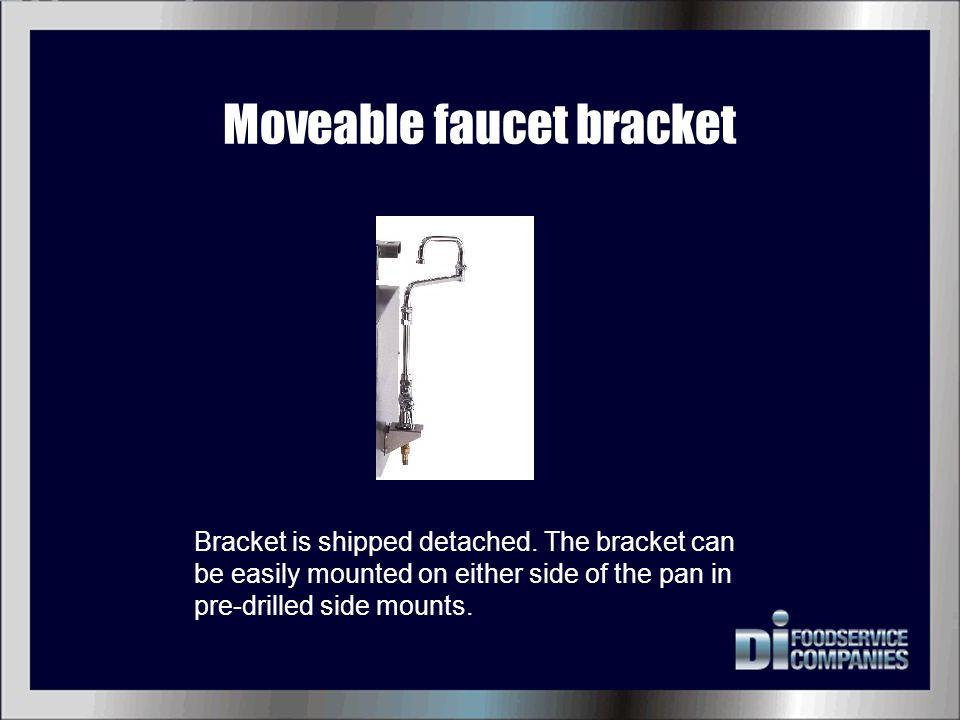 Moveable faucet bracket