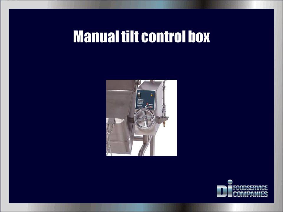 Manual tilt control box