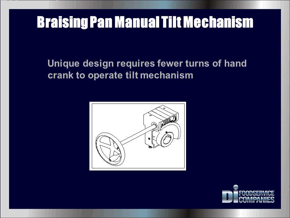 Braising Pan Manual Tilt Mechanism