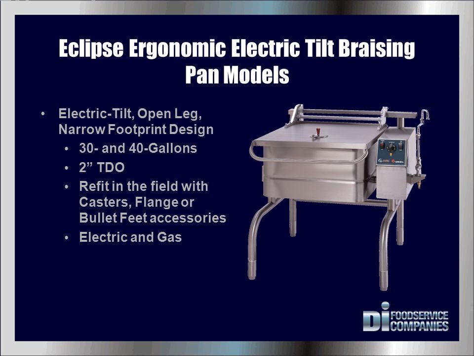 Eclipse Ergonomic Electric Tilt Braising Pan Models