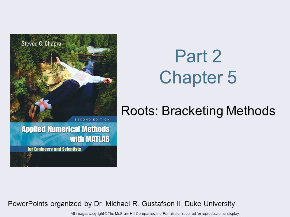 Roots: Bracketing Methods