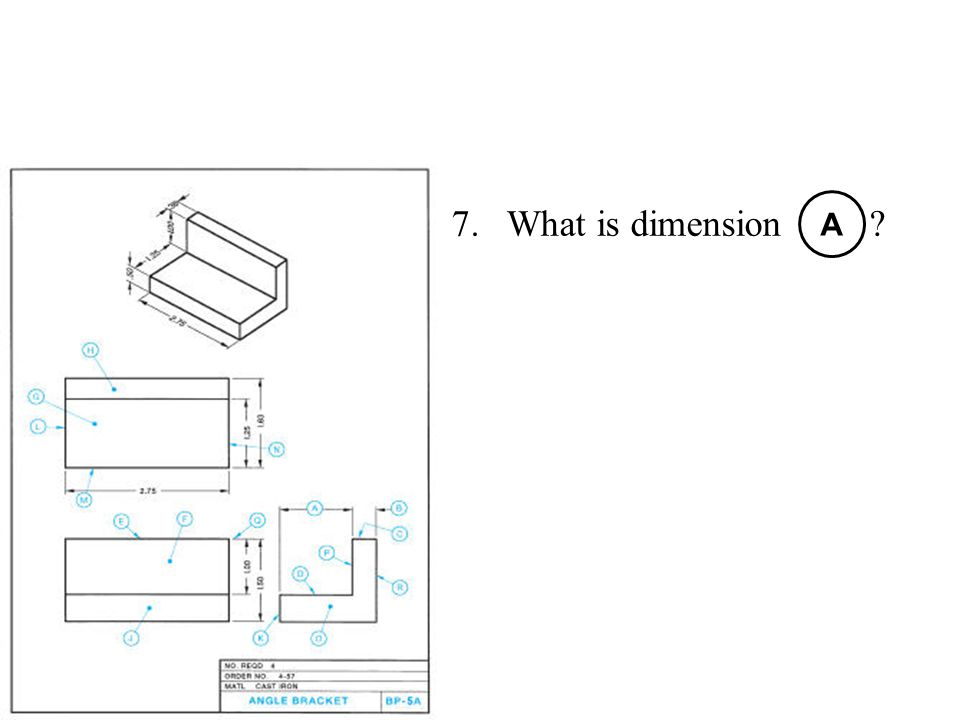 What is dimension A