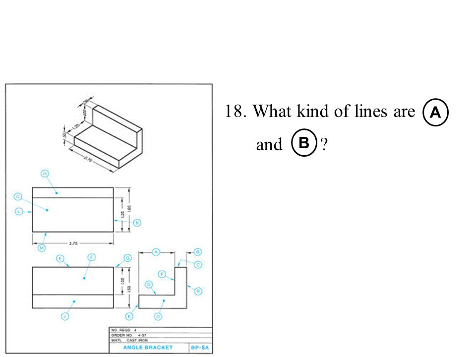 What kind of lines are and A B