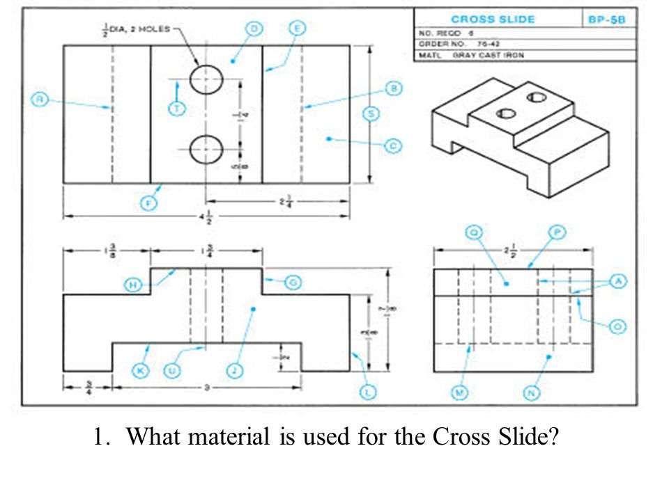 What material is used for the Cross Slide