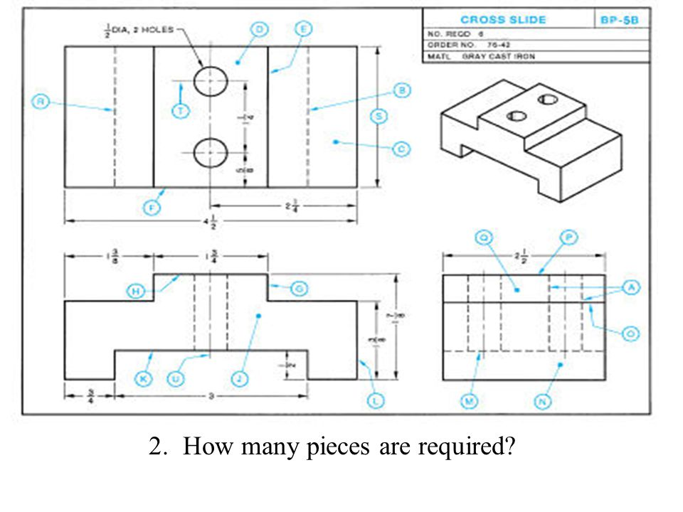 How many pieces are required