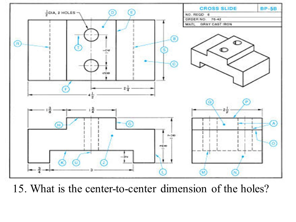 What is the center-to-center dimension of the holes
