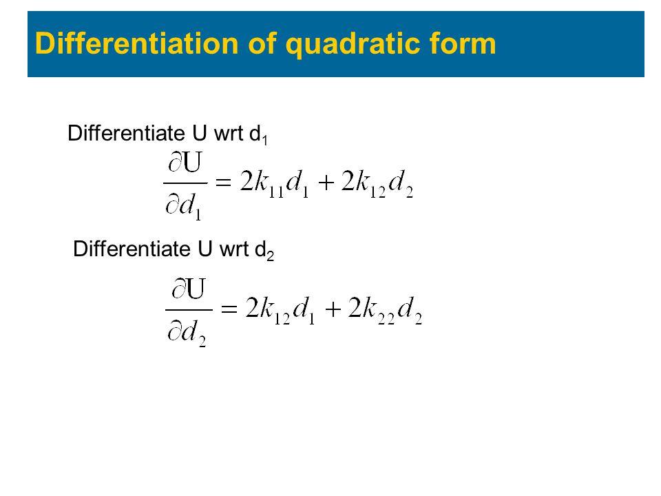 Differentiation of quadratic form