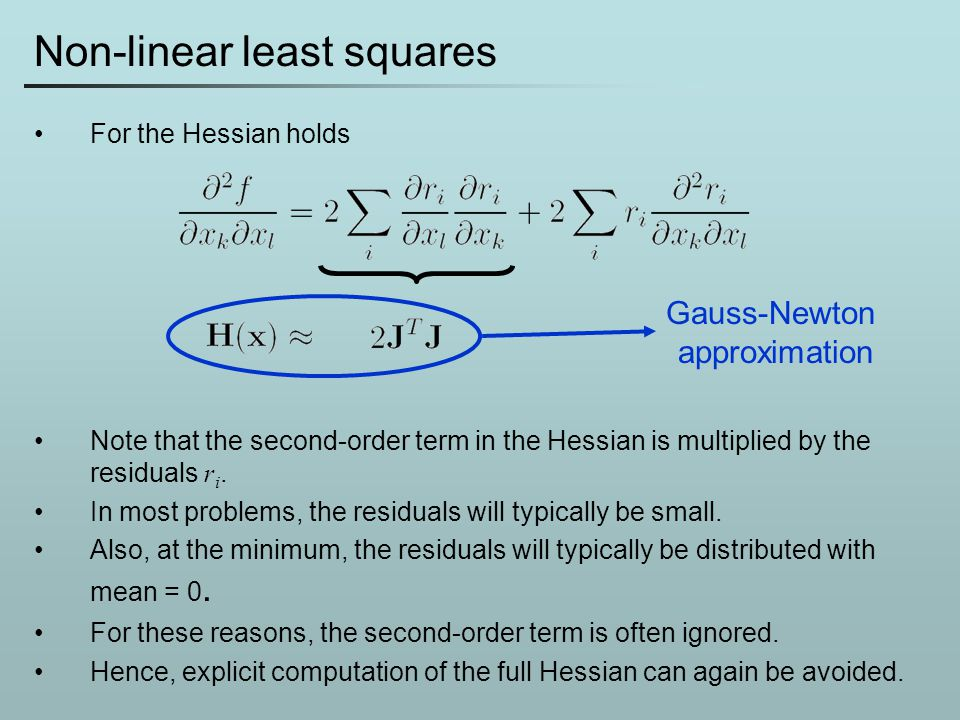 Non-linear least squares