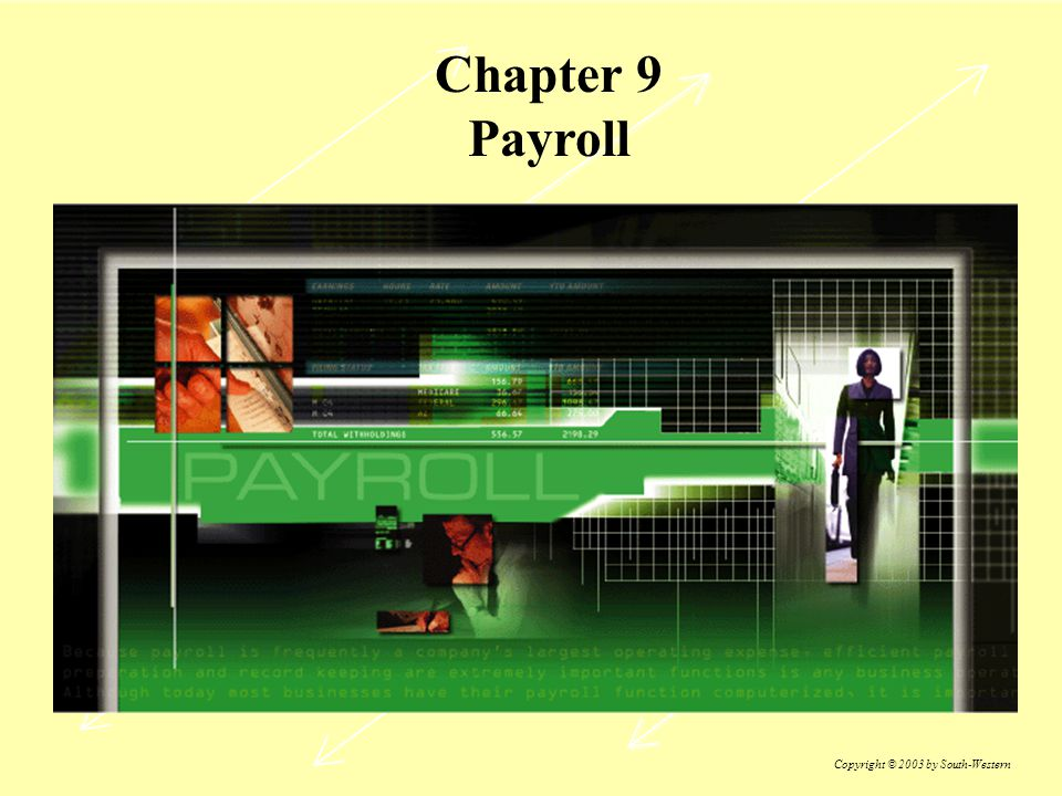 Chapter 9 Payroll Copyright © 2003 by South-Western