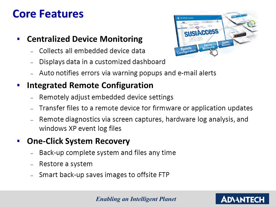Core Features Centralized Device Monitoring