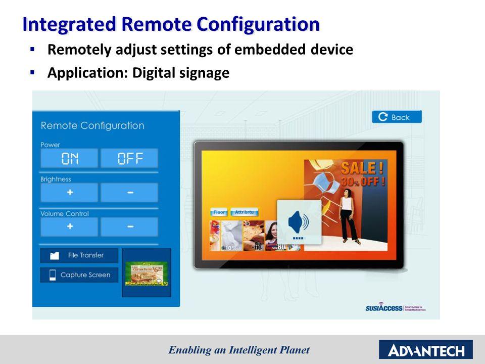 Integrated Remote Configuration