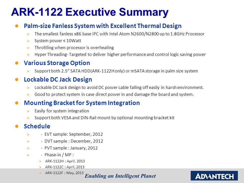 ARK-1122 Executive Summary