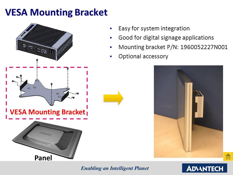 VESA Mounting Bracket VESA Mounting Bracket Panel