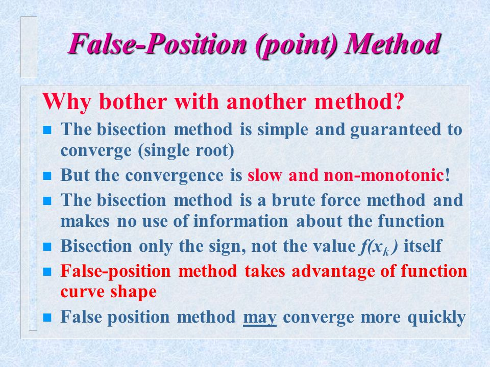 False-Position (point) Method