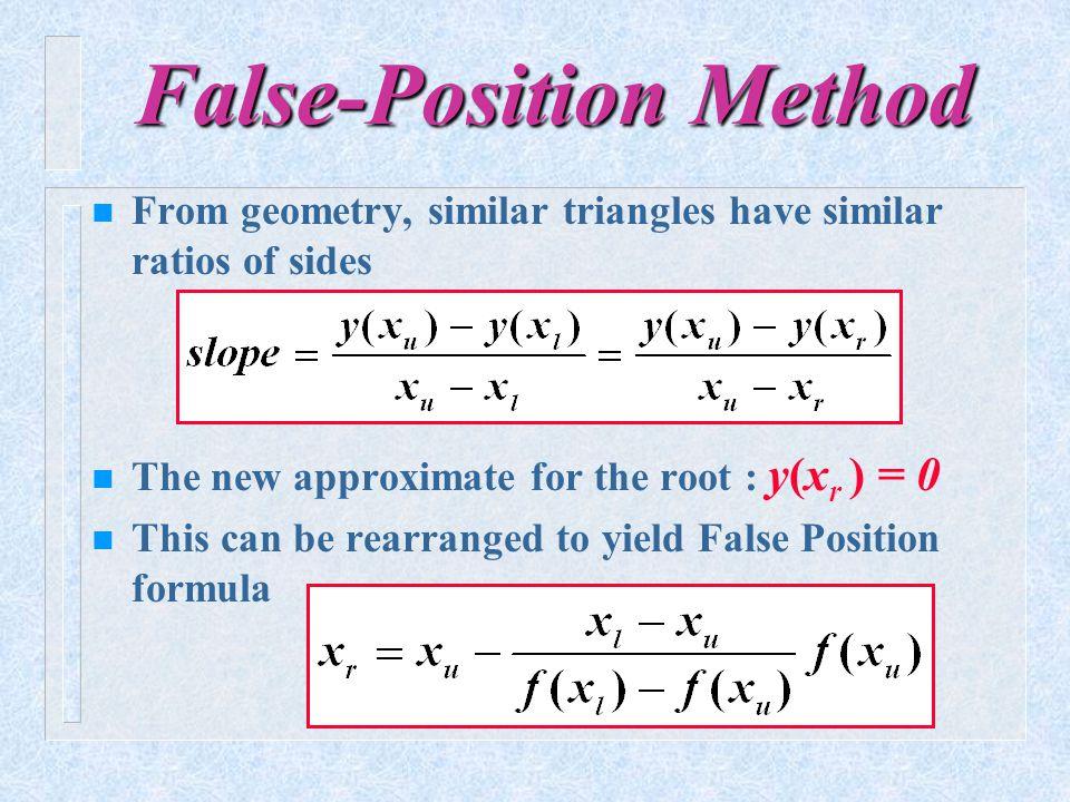 False-Position Method
