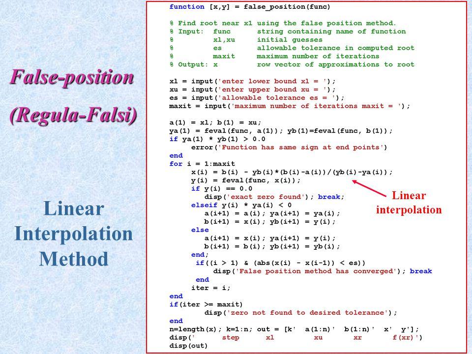 Linear Interpolation Method