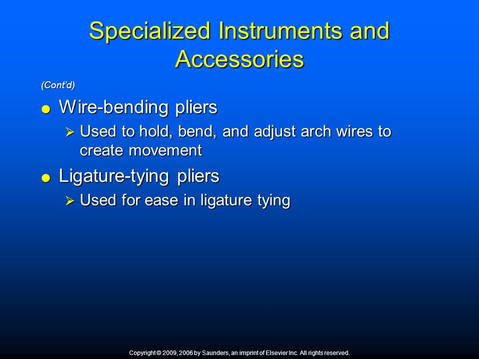 Specialized Instruments and Accessories