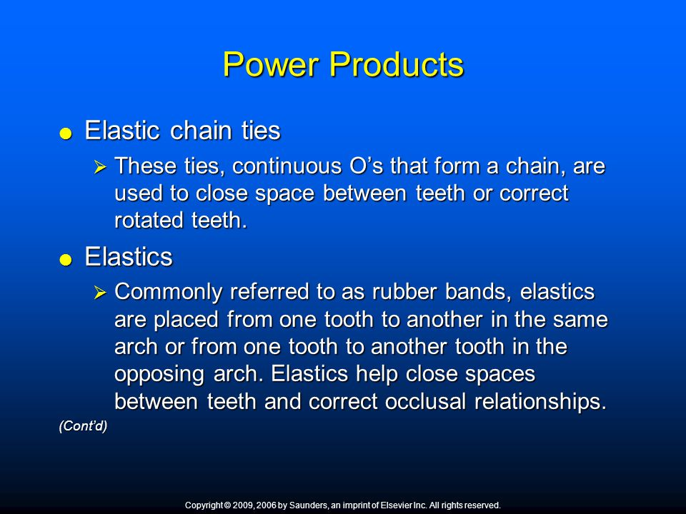 Power Products Elastic chain ties Elastics